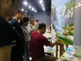 朝鲜油画家在黎川开展创作交流